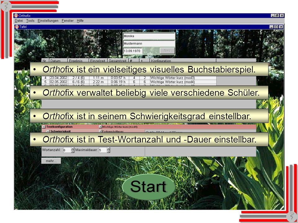 Künftig: Orthofix Orthofix ist ein vielseitiges visuelles Buchstabierspiel.