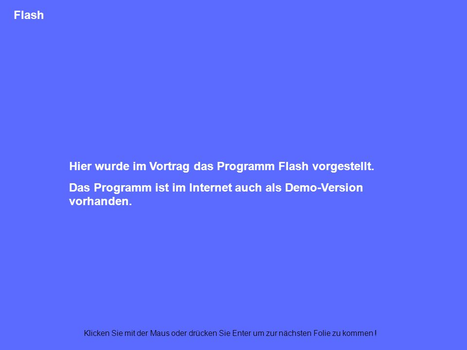 Texte – Flash Track