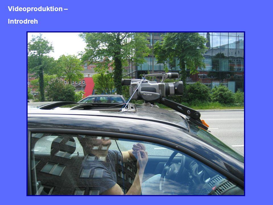 Videopostproduktion Schnitt z.B. mit Adobe Premiere Export als *.avi (DV) Komprimierung z.B. mit Cleaner Export als *.mov (MPEG-4)