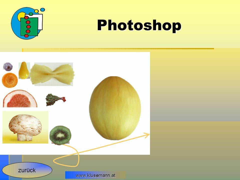 www.klusemann.at Photoshop zurück