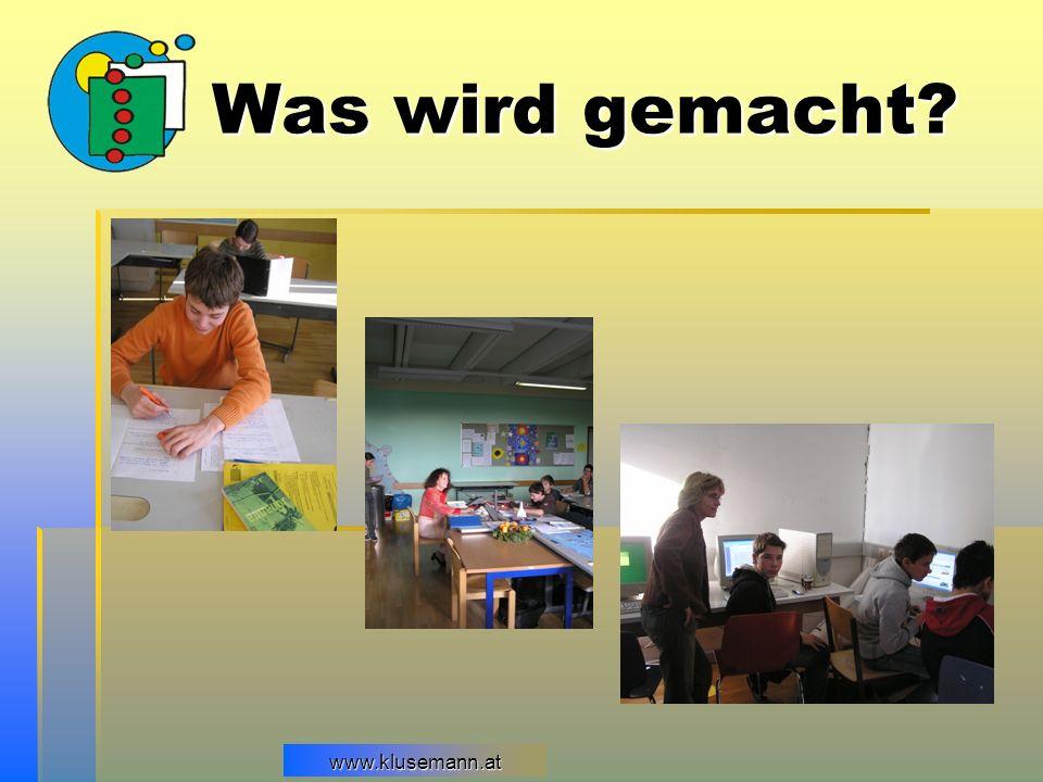 www.klusemann.atwww.klusemann.at Was wird gemacht?