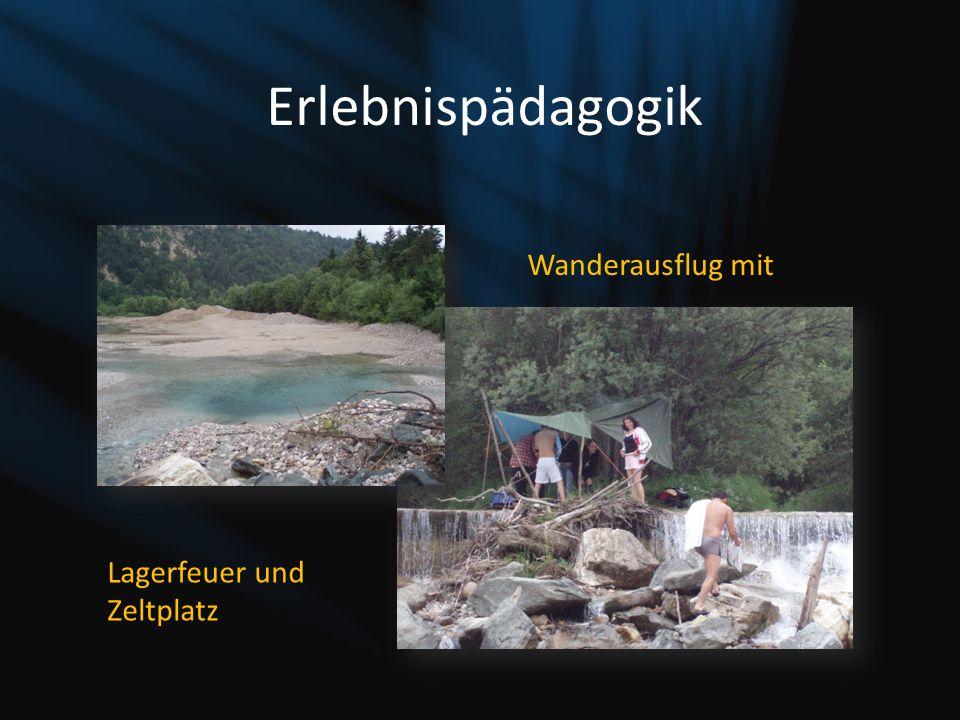 Erlebnispädagogik Wanderausflug mit Lagerfeuer und Zeltplatz