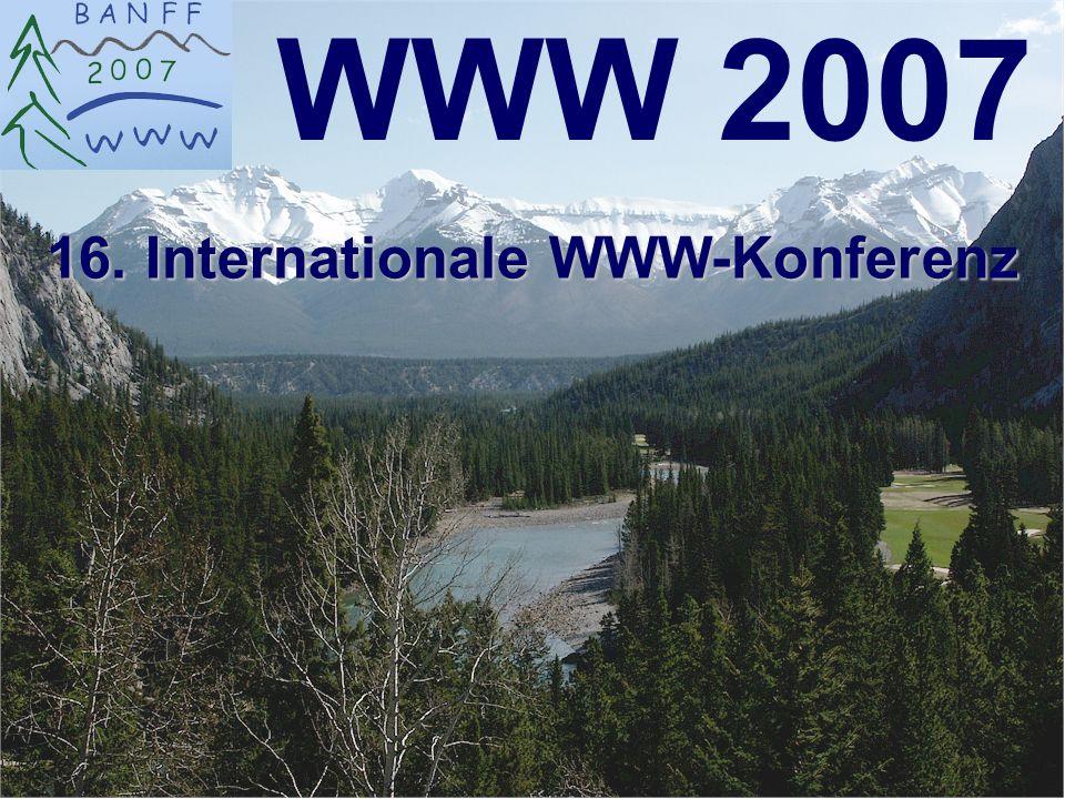 6-Sep-2007reto ambühler22 Feedback WWW2007 Highlights: 3.Web History Track - Messages: Wir müssen jetzt anfangen das Web zu bewahren .