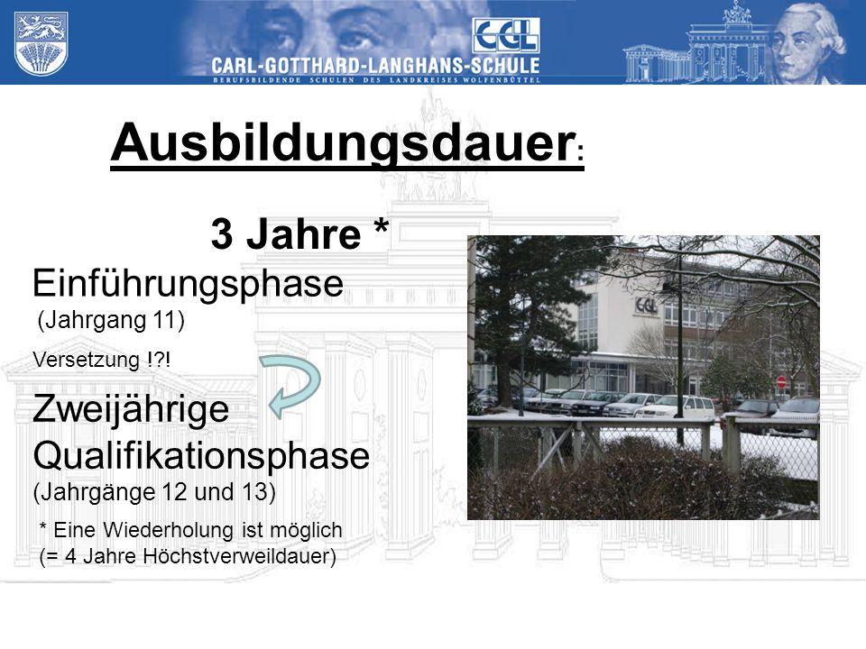 Ausbildungsdauer : 3 Jahre * Versetzung !?.