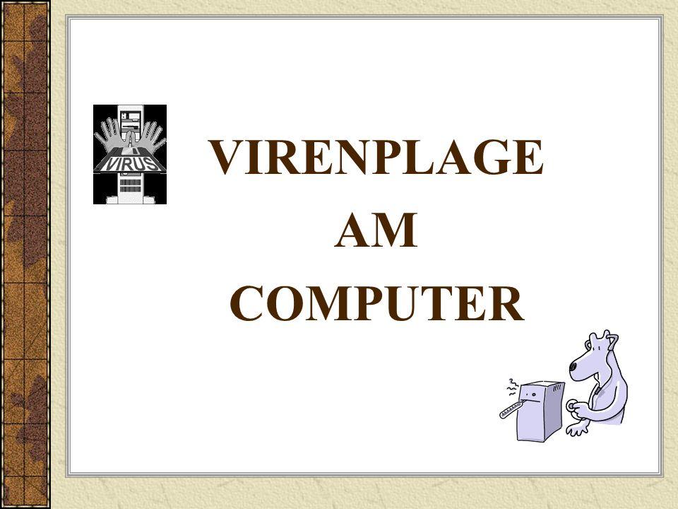 VIRENPLAGE AM COMPUTER