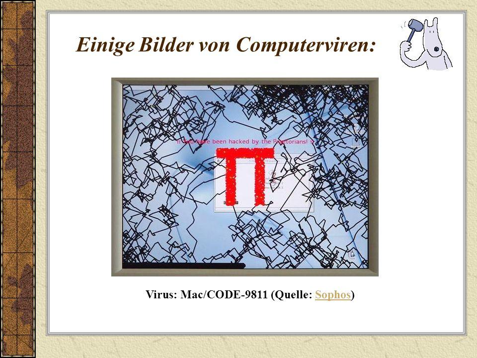 Einige Bilder von Computerviren: Virus: Mac/CODE-9811 (Quelle: Sophos)Sophos