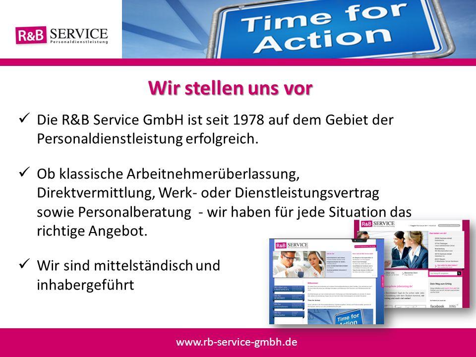 Die R&B Service GmbH ist seit 1978 auf dem Gebiet der Personaldienstleistung erfolgreich. Ob klassische Arbeitnehmerüberlassung, Direktvermittlung, We