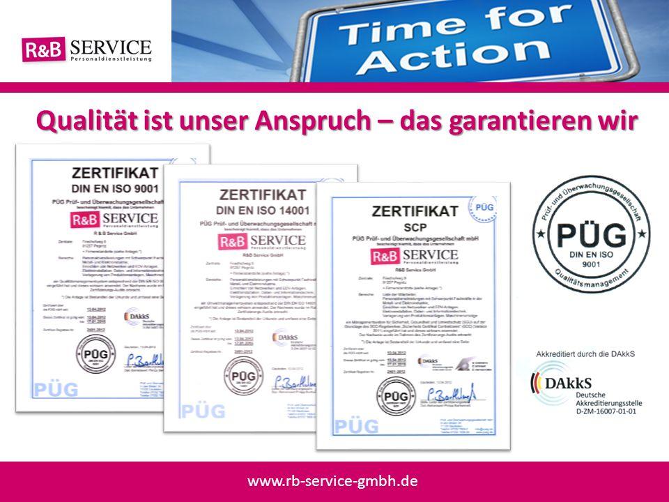Qualität ist unser Anspruch – das garantieren wir www.rb-service-gmbh.de