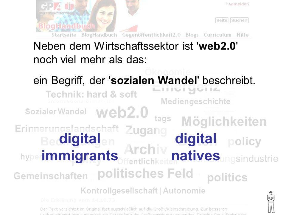 Sozialer Wandel Mediengeschichte Technik: hard & soft Ökonomie rekonfig.