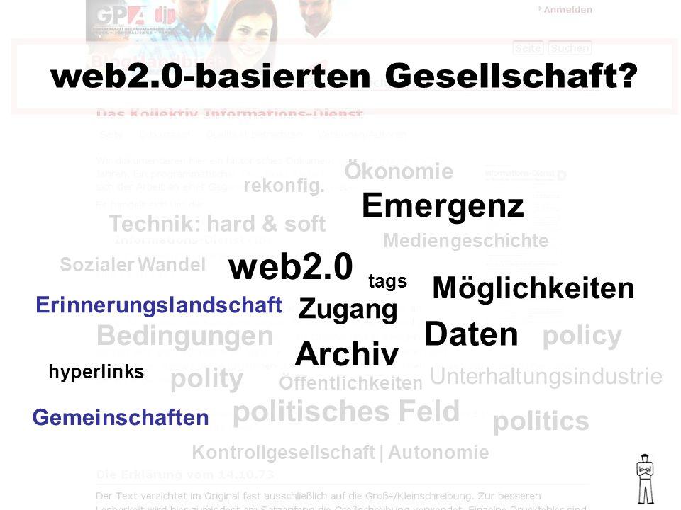 Bedingungen web2.0-basierten Gesellschaft.