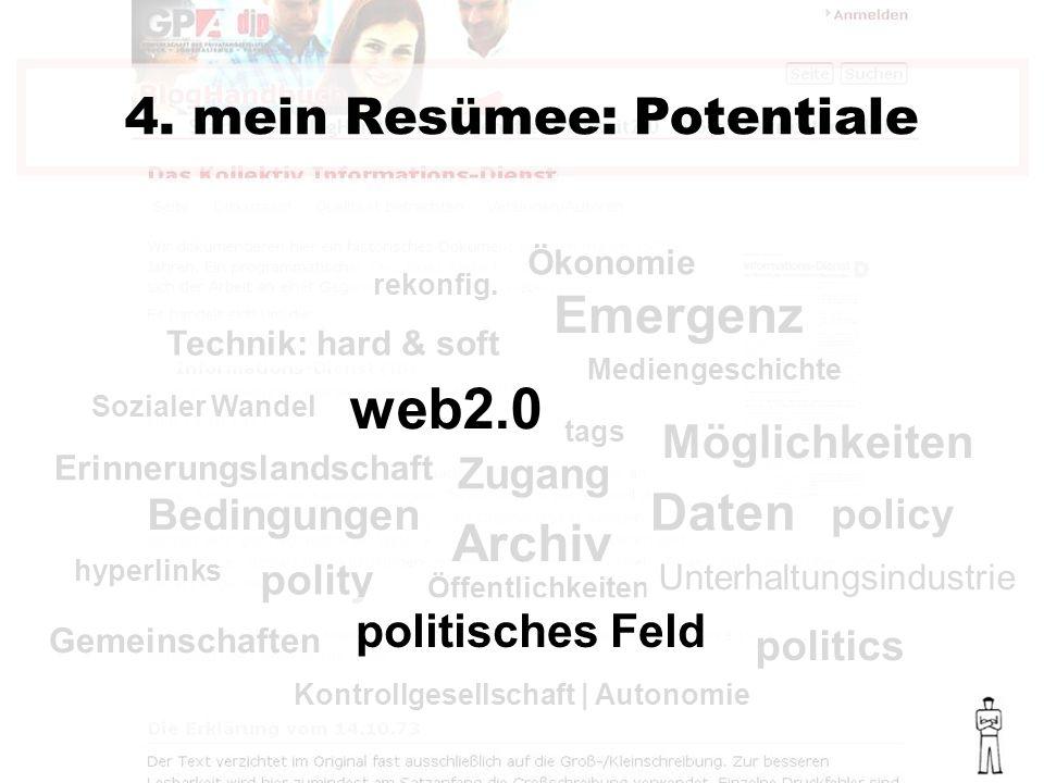 politics policy polity Bedingungen Emergenz 4.