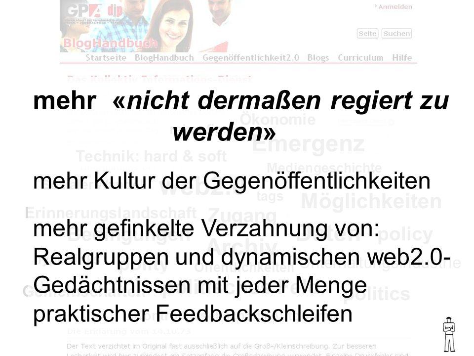 politics policy polity politisches Feld Bedingungen web2.0 Emergenz Sozialer Wandel Mediengeschichte Technik: hard & soft Ökonomie rekonfig.