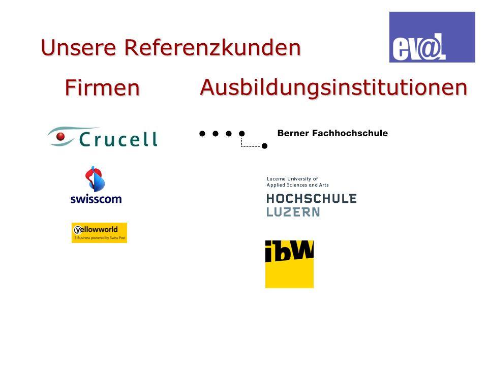 Unsere Referenzkunden Firmen Ausbildungsinstitutionen