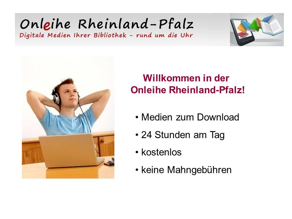 Willkommen in der Onleihe Rheinland-Pfalz.