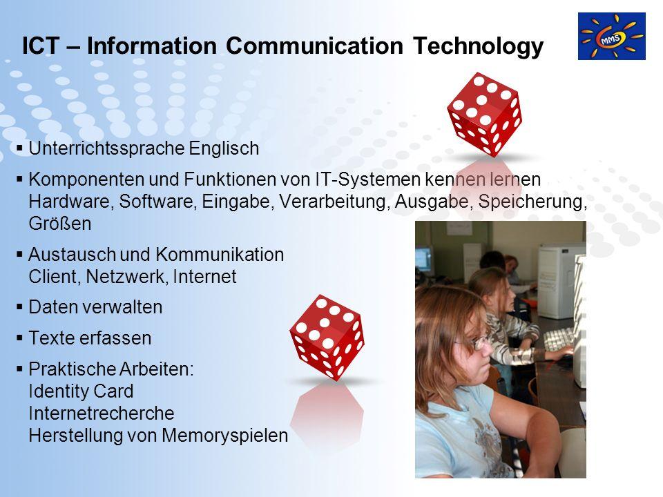 Page 10 Unterrichtssprache Englisch Komponenten und Funktionen von IT-Systemen kennen lernen Hardware, Software, Eingabe, Verarbeitung, Ausgabe, Speic