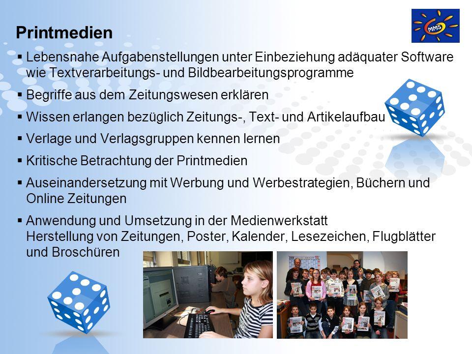 Page 11 Printmedien Lebensnahe Aufgabenstellungen unter Einbeziehung adäquater Software wie Textverarbeitungs- und Bildbearbeitungsprogramme Begriffe