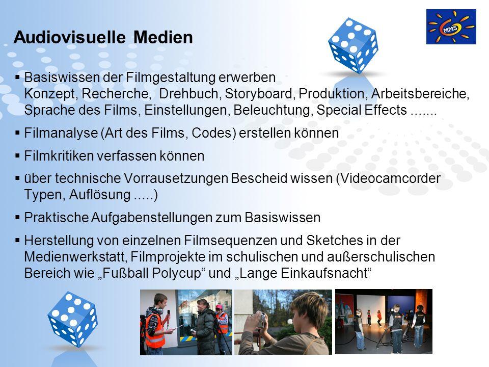 Page 15 Audiovisuelle Medien Basiswissen der Filmgestaltung erwerben Konzept, Recherche, Drehbuch, Storyboard, Produktion, Arbeitsbereiche, Sprache de