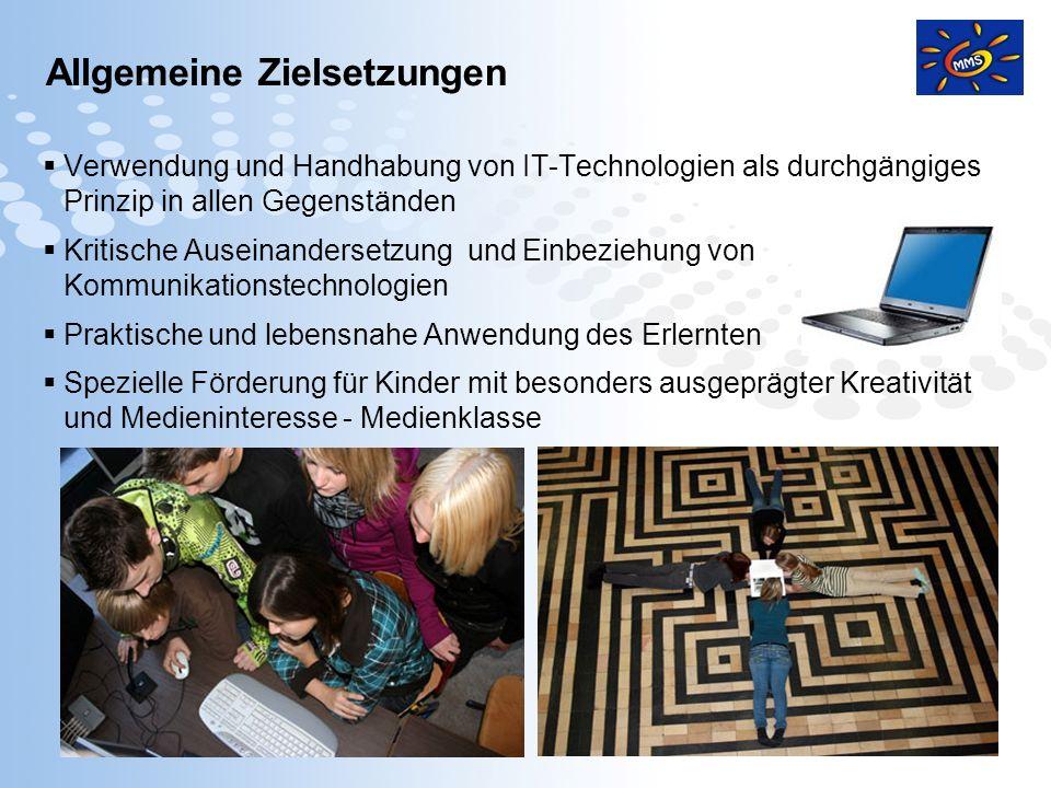 Page 2 Allgemeine Zielsetzungen Verwendung und Handhabung von IT-Technologien als durchgängiges Prinzip in allen Gegenständen Kritische Auseinanderset