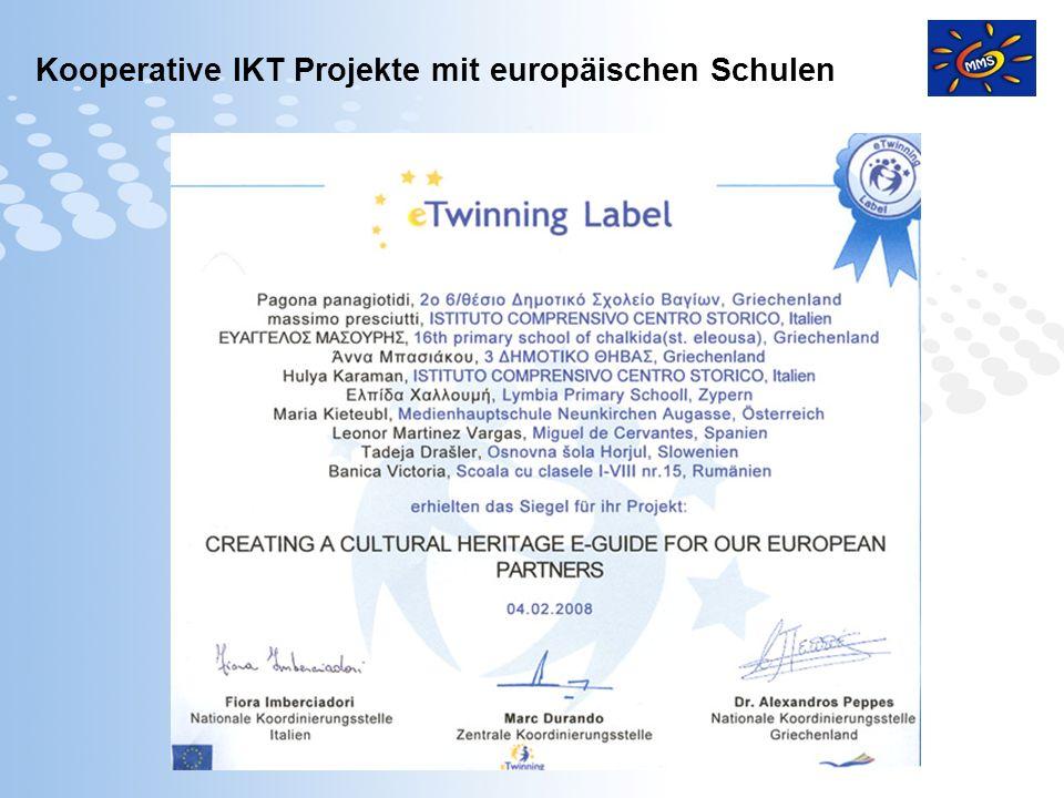 Page 6 Kooperative IKT Projekte mit europäischen Schulen