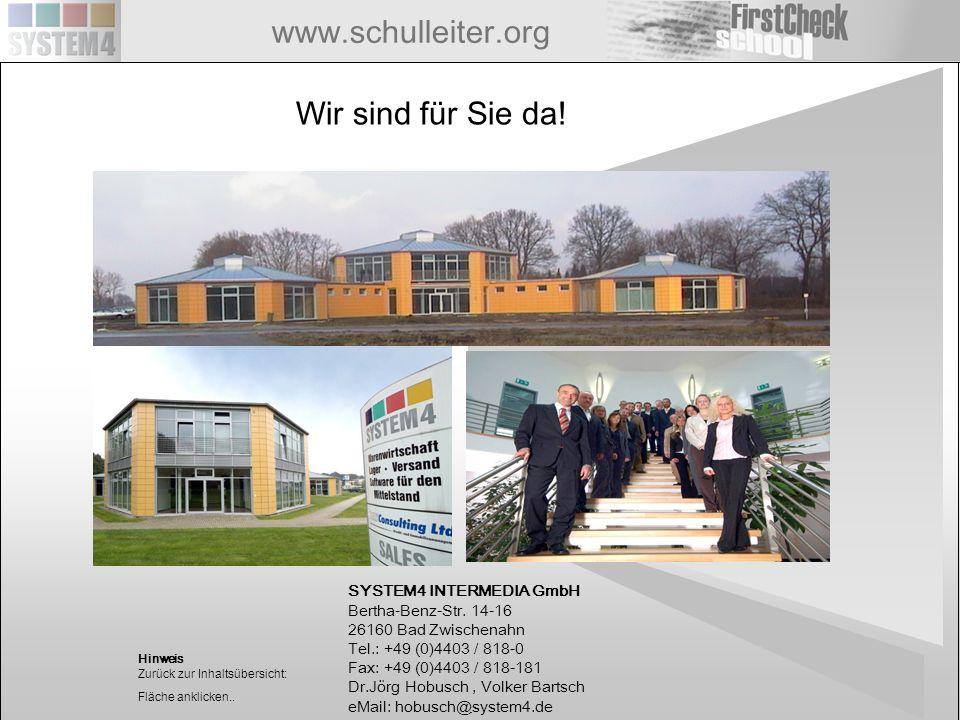www.schulleiter.org SYSTEM4 INTERMEDIA GmbH Bertha-Benz-Str. 14-16 26160 Bad Zwischenahn Tel.: +49 (0)4403 / 818-0 Fax: +49 (0)4403 / 818-181 Dr.Jörg