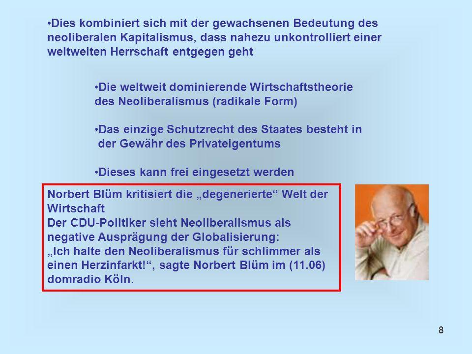 39 Für das Buch: Die Schatten der Globalisierung hat Joseph Stieglitz vor allem (ehemals Weltbankpräsident) den Nobelpreis für Wirtschaft (2001) erhalten.