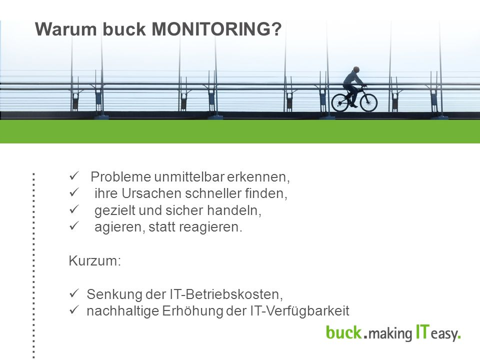 Warum buck MONITORING.