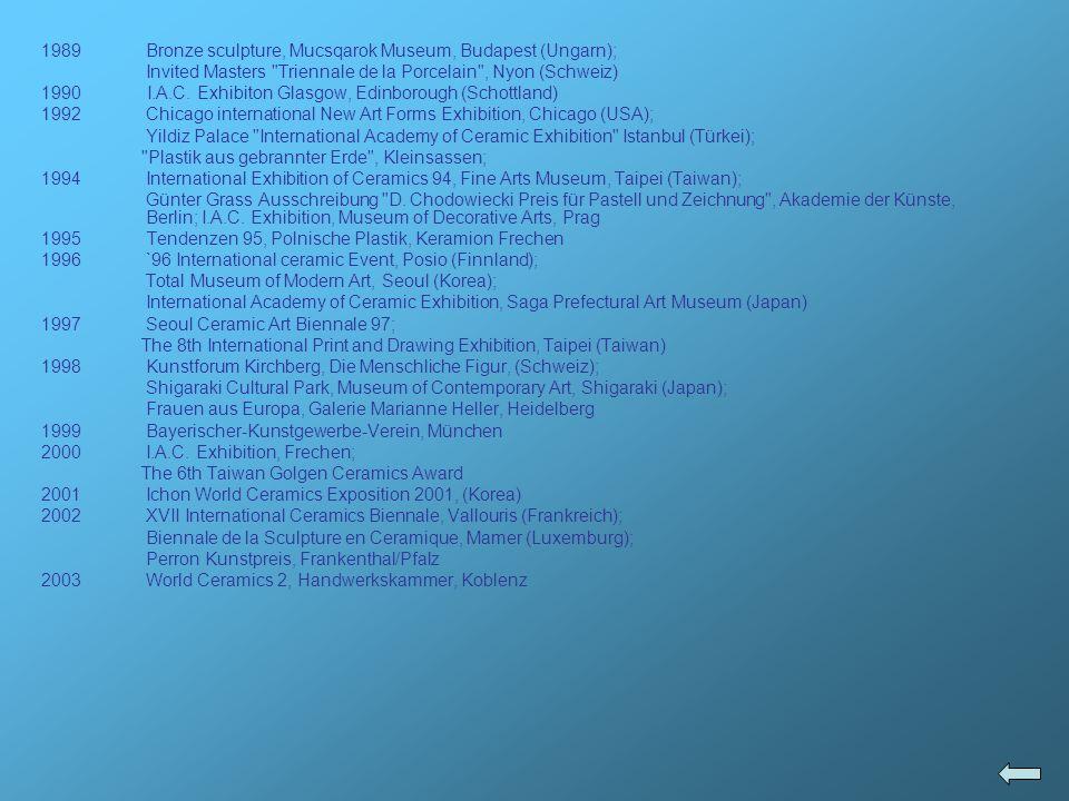 1989Bronze sculpture, Mucsqarok Museum, Budapest (Ungarn); Invited Masters