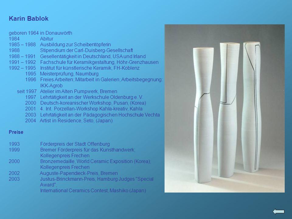 Ausstellungen 1993 Keramik Offenburg , Offenburg; 34.
