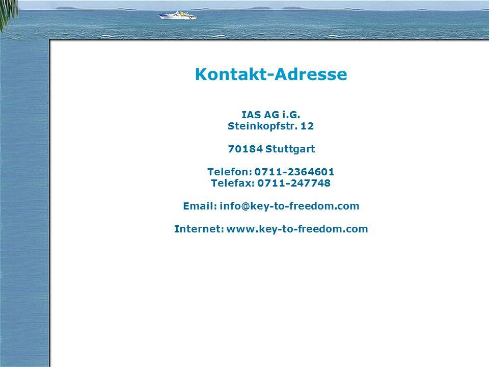 Kontakt-Adresse IAS AG i.G. Steinkopfstr.
