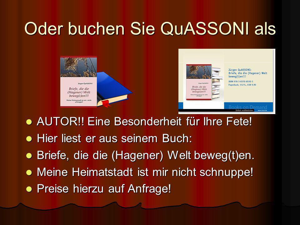 QuASSONIQuASSONI Magier und Autor aus Hagen in Nordrheinwestfalen