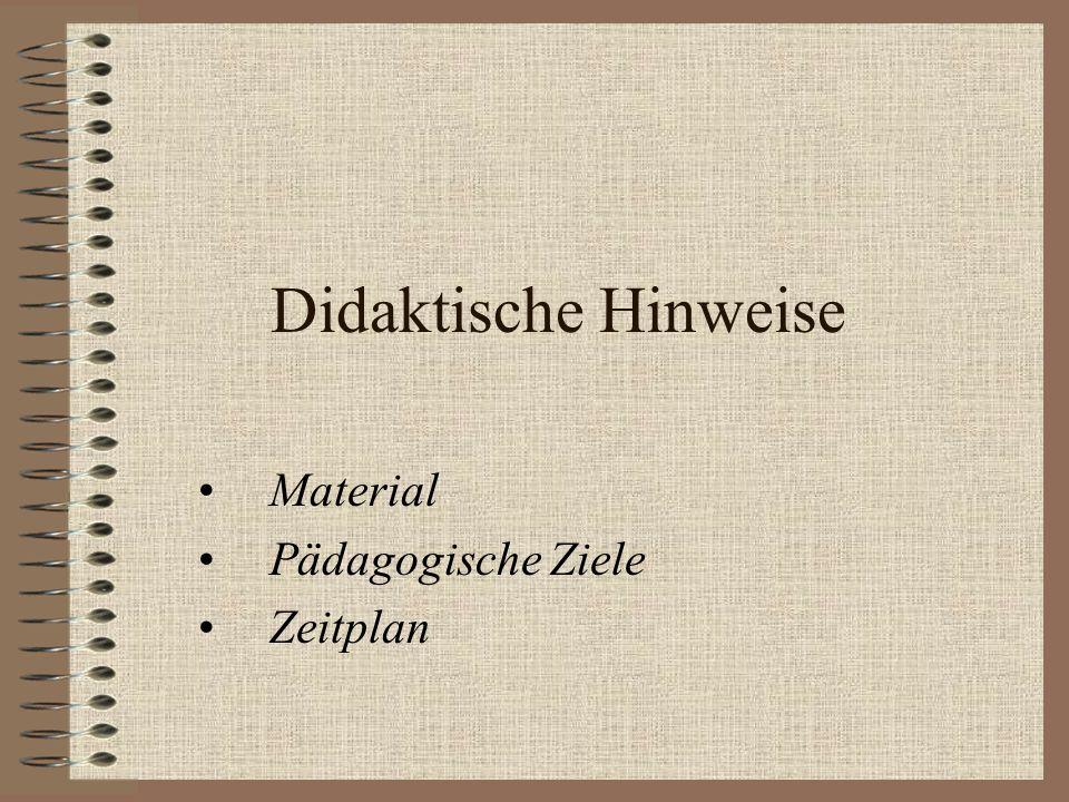 Material Theoretischer Teil Internet dc2.uni- bielefeld.de/dc2/haerte www.seilnacht-tuttlingen.de HotPotatoes CD-ROM Taschenbuch der Chemie Harri Deutsch Verlag 1999 Schulbuch Elemente Magyar et al.