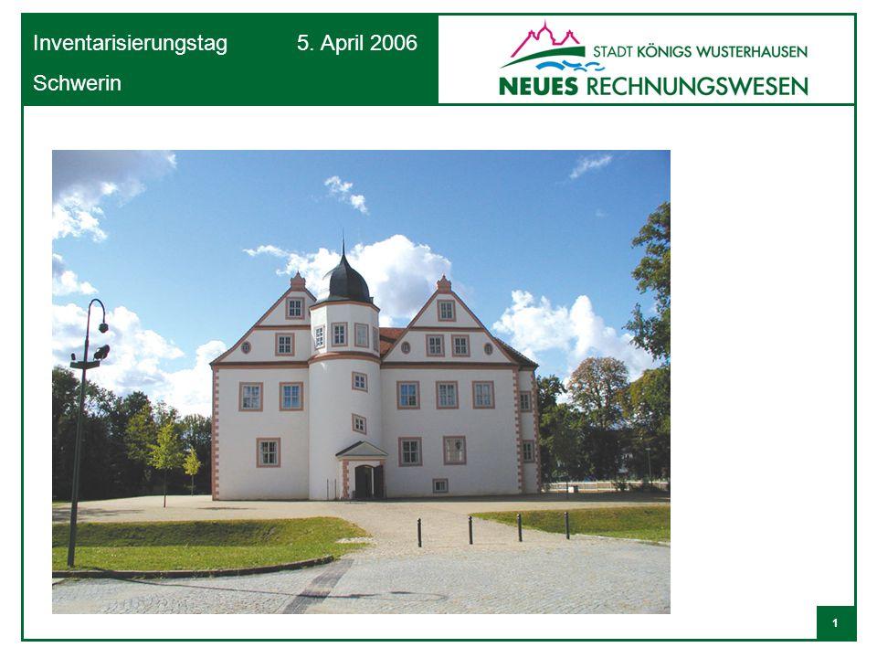 12 Inventarisierungstag 5. April 2006 Schwerin Vereinfachter Aufbau einer Bilanz