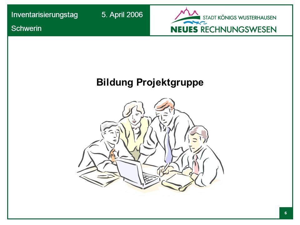 7 Inventarisierungstag 5. April 2006 Schwerin Aufbau Projektgruppe