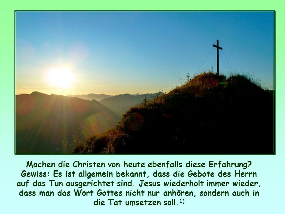 Und auch die Christen, denen er das Evangelium verkündet hat, haben bei ihrer Bekehrung diese Erfahrung gemacht: Das Leben nach den Geboten Gottes, vo