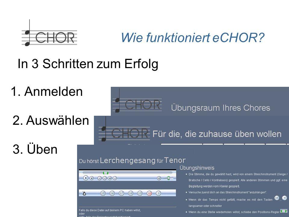 Was nutzt mir eCHOR... als Chorleiter eCHOR bietet mir als Chorleiter oder Vizechorleiter...
