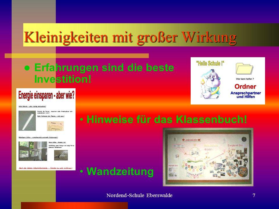 Nordend -Schule Eberswalde6 Und dann ging es los. Unsere Projektgruppe Zahlen, Zahlen, Zahlen...
