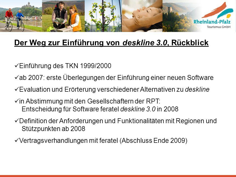 Der Weg zur Einführung von deskline 3.0, Rückblick Einführung des TKN 1999/2000 ab 2007: erste Überlegungen der Einführung einer neuen Software Evalua