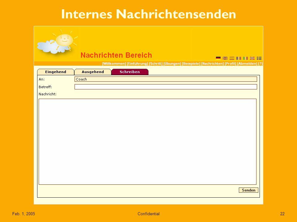 Confidential22Feb. 1, 2005 Internes Nachrichtensenden