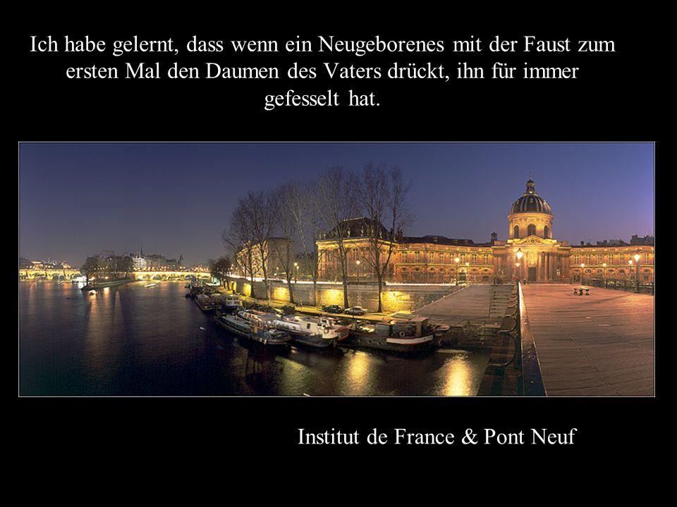 Institut de France So viele Dinge habe ich von ihnen, den Menschen gelernt. Ich habe gelernt, dass die ganze Welt auf dem Gipfel des Berges zu leben b