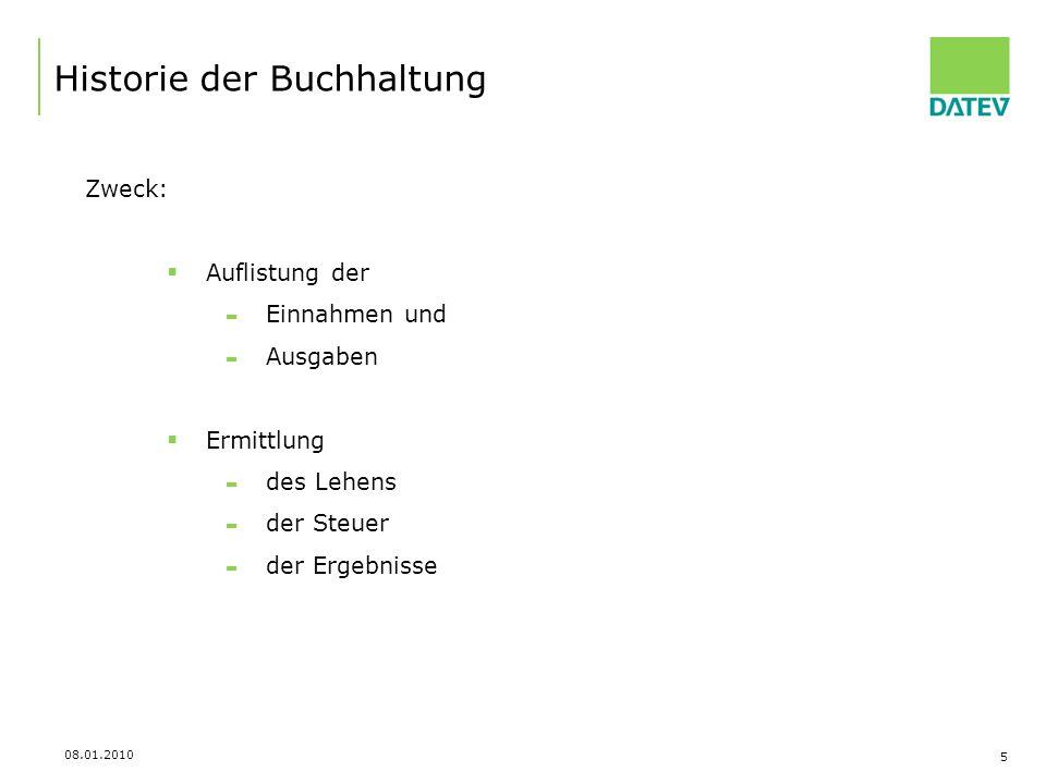 08.01.2010 16 Belegablage im Rechenzentrum Belegverwaltung online Buchführung mit Zukunft – Wie kann es weiter gehen.