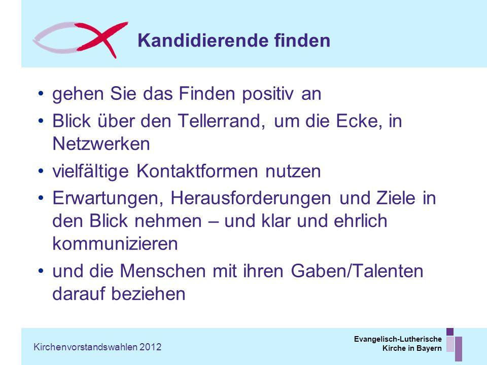Evangelisch-Lutherische Kirche in Bayern Kandidierende finden gehen Sie das Finden positiv an Blick über den Tellerrand, um die Ecke, in Netzwerken vi