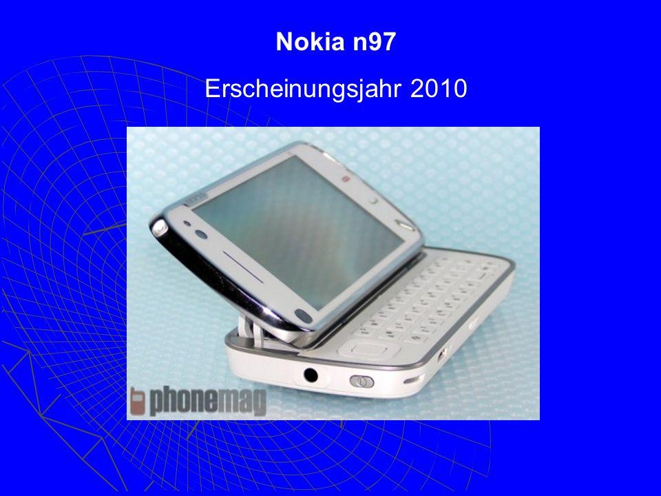 Nokia n97 Erscheinungsjahr 2010