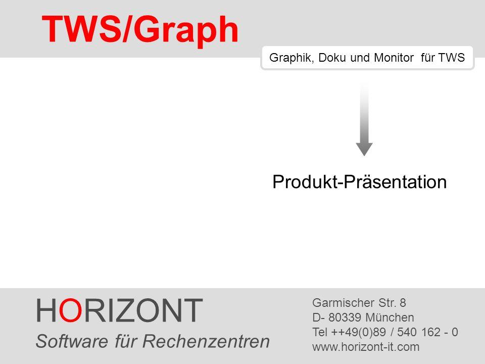 HORIZONT 2 TWS/Graph Inhaltsangabe Einführung Netzpläne Cluster Suchen und Finden Vorgänger und Nachfolger Forecast Export TWS/Graph vs.