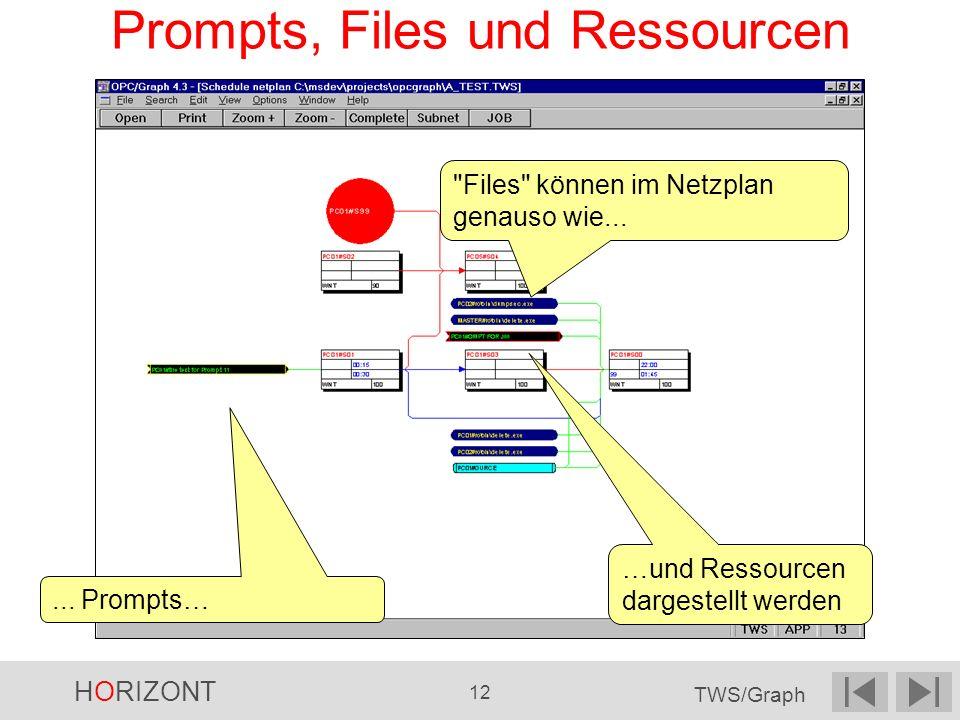 HORIZONT 12 TWS/Graph Prompts, Files und Ressourcen