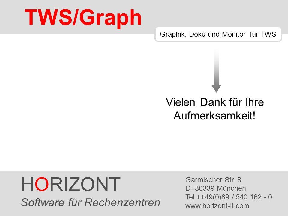 HORIZONT 39 TWS/Graph HORIZONT Software für Rechenzentren Garmischer Str. 8 D- 80339 München Tel ++49(0)89 / 540 162 - 0 www.horizont-it.com TWS/Graph