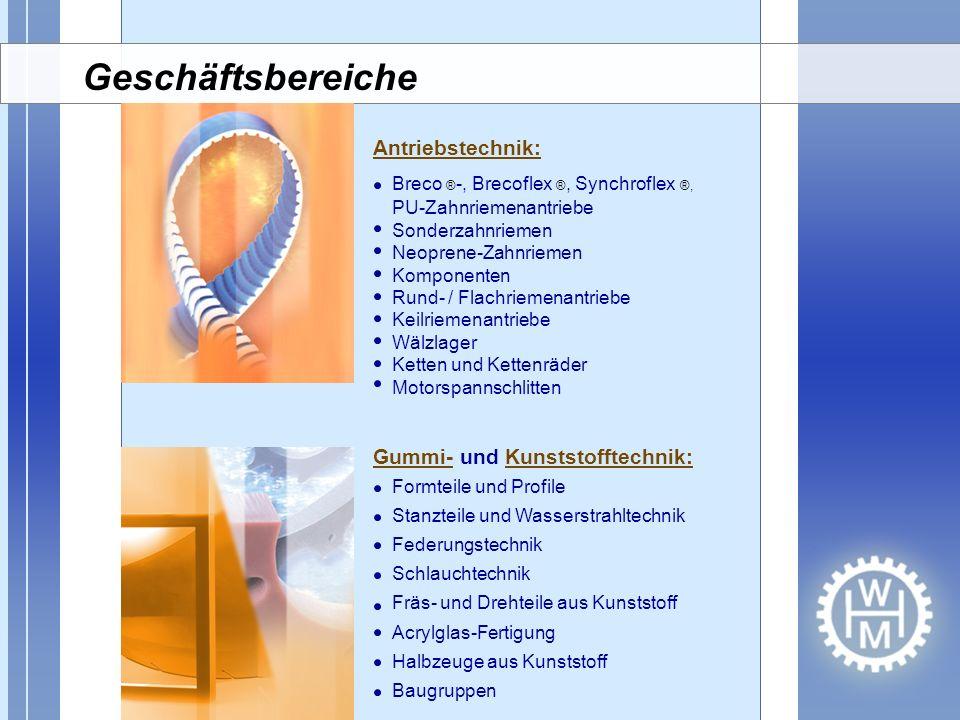 Antriebstechnik: Breco ® -, Brecoflex ®, Synchroflex ®, PU-Zahnriemenantriebe Sonderzahnriemen Neoprene-Zahnriemen Komponenten Rund- / Flachriemenantr