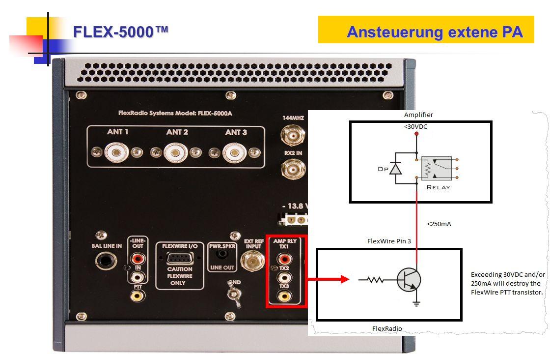 FLEX-5000 Ansteuerung extene PA