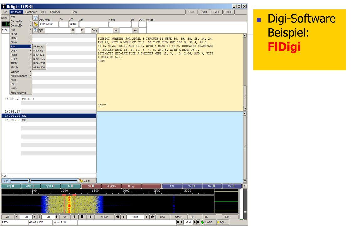 FLEX-5000 Digi-Software Beispiel: FlDigi