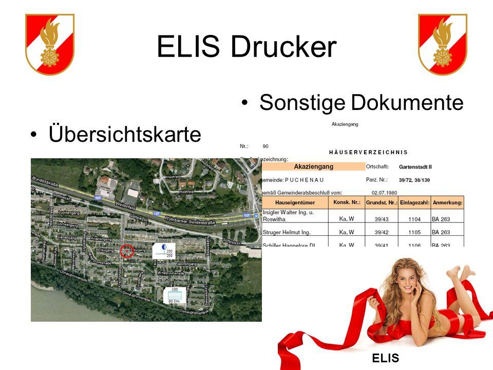 ELIS ELIS Drucker Sonstige Dokumente Übersichtskarte