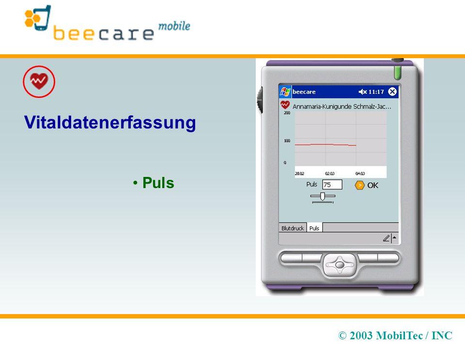 © 2003 MobilTec / INC Vitaldatenerfassung Puls